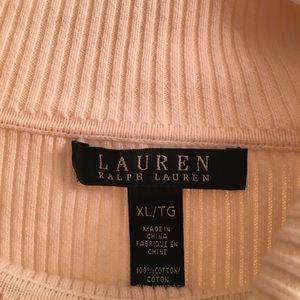 Ralph Lauren Sweaters - Ralph Lauren Off White Ribbed Turtleneck Sweater